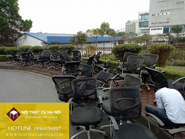 Thanh lý bàn ghế nhân viên, ghế văn phòng tại Hà Nội