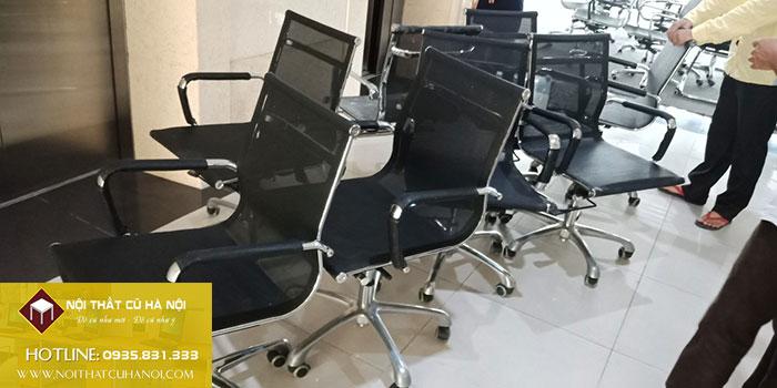 Thanh lý ghế xoay lưới văn phòng mới 99,9% tại Hà Nội