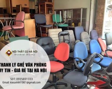 Thanh lý ghế văn phòng giá rẻ Hà Nội Uy Tín